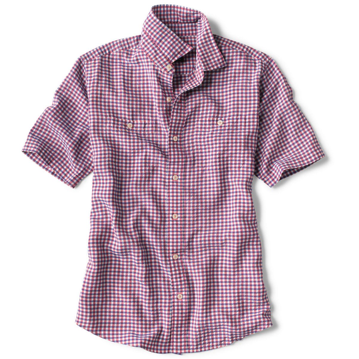 Tencel® Dobby Gingham Short-Sleeved Shirt - image number 0