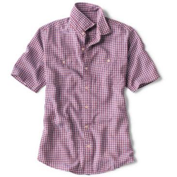 Tencel® Dobby Gingham Short-Sleeved Shirt -