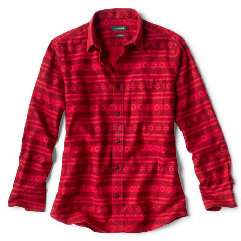 Big Timber Printed Long-Sleeved Shirt - BARN RED image number 0
