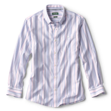 Pinpoint Stripe Wrinkle-Free Comfort Stretch Long-Sleeved Shirt -  image number 0