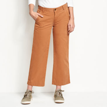 Herringbone Wide-Leg Cropped Pants -
