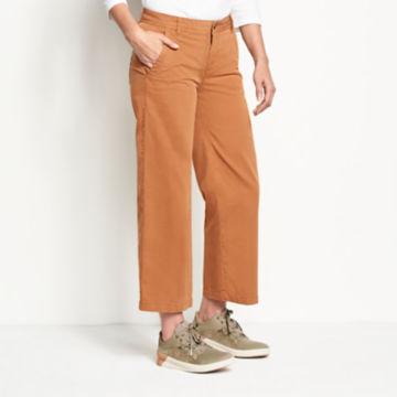 Herringbone Wide-Leg Cropped Pants -  image number 1