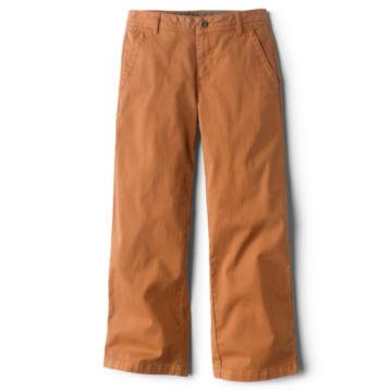 Herringbone Wide-Leg Cropped Pants -  image number 3