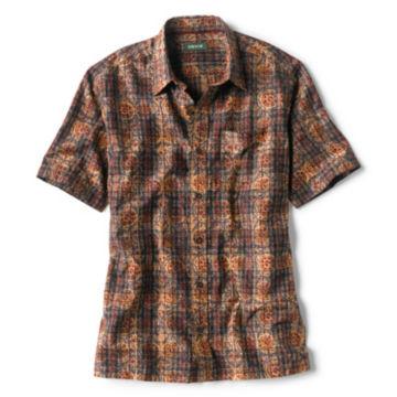 Madras Overprint Short-Sleeved Shirt -  image number 0