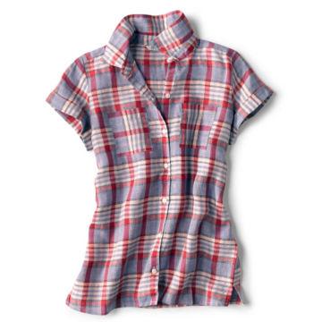 Linen Check Short-Sleeved Shirt -  image number 4