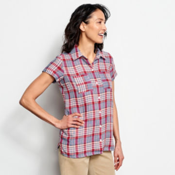 Linen Check Short-Sleeved Shirt -  image number 1