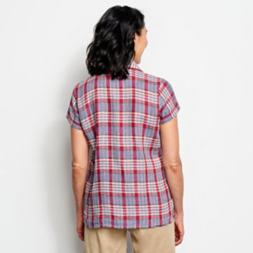 Linen Check Short-Sleeved Shirt -  image number 2