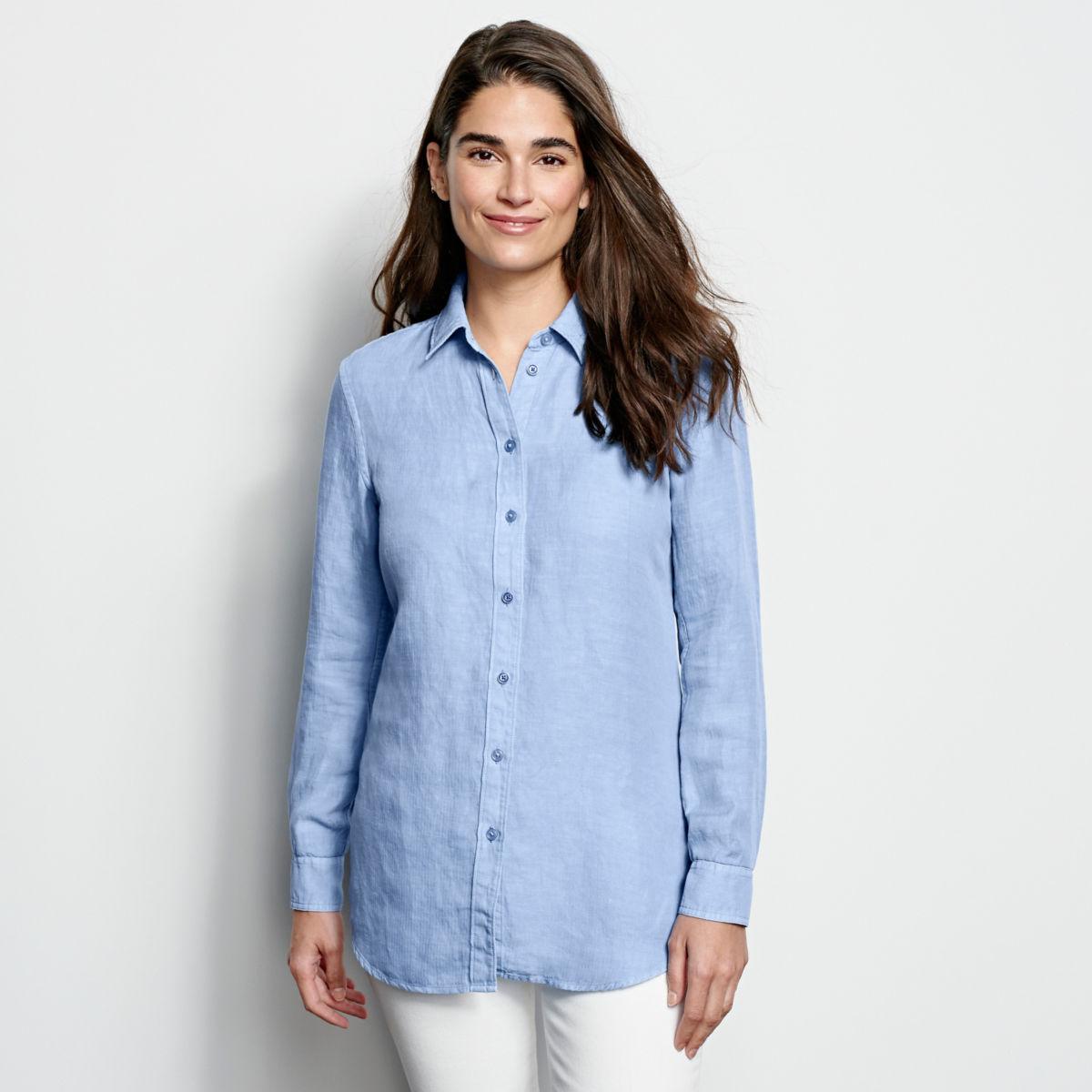 Linen/Tencel Herringbone Shirt - image number 0
