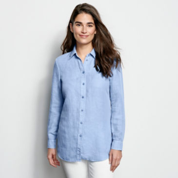Linen/Tencel Herringbone Shirt -