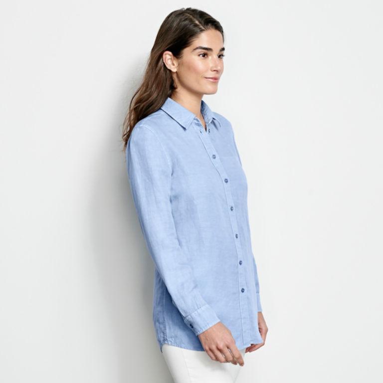 Linen/Tencel Herringbone Shirt -  image number 1