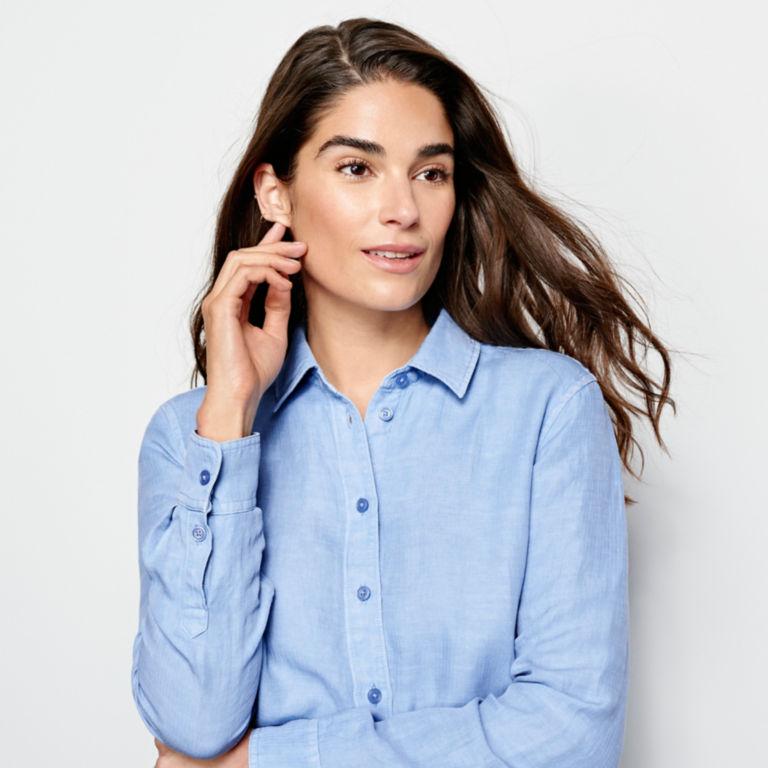 Linen/Tencel Herringbone Shirt -  image number 3