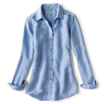 Linen/Tencel Herringbone Shirt -  image number 4