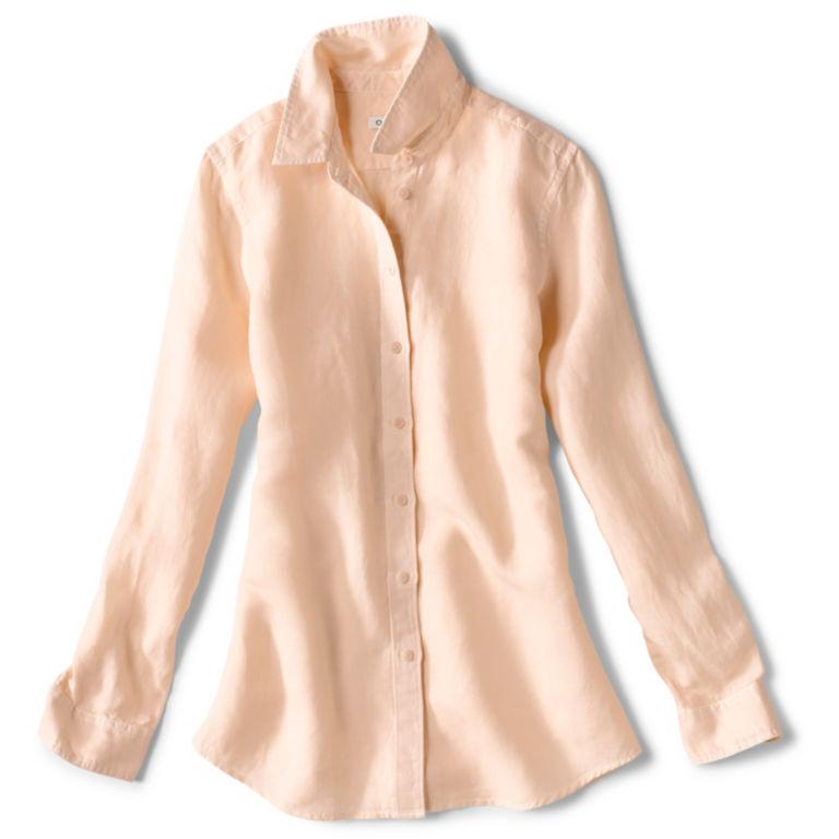 Linen/Tencel Herringbone Shirt - ROSE MIST image number 0