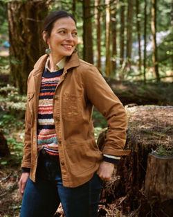 Amanda Bruegl standing in the forest
