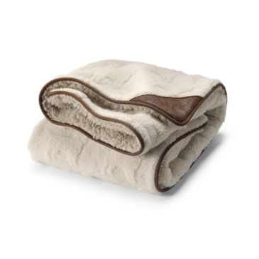 Embossed Sherpa Throw -