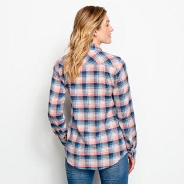 Lightweight Washed Indigo Plaid Shirt -  image number 3