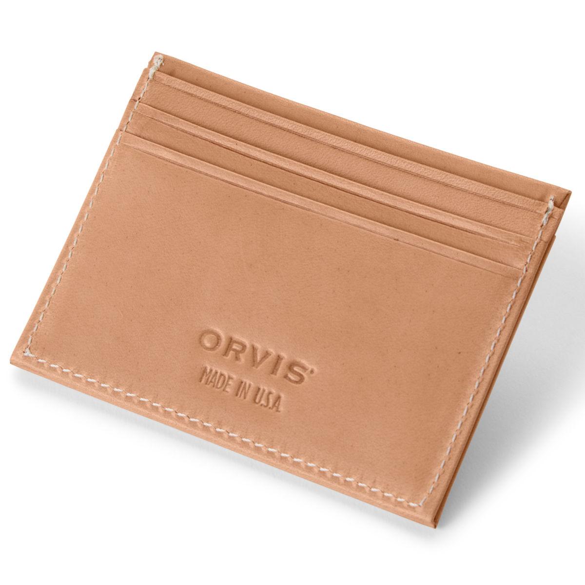 Natural Leather Card Carrier - NATURALimage number 0
