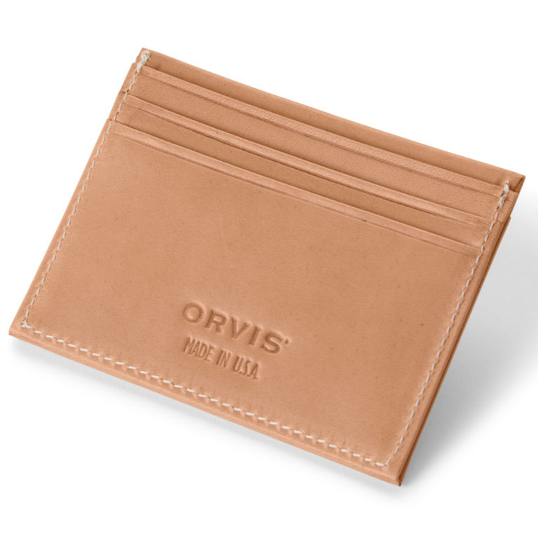 Natural Leather Card Carrier - NATURAL image number 0