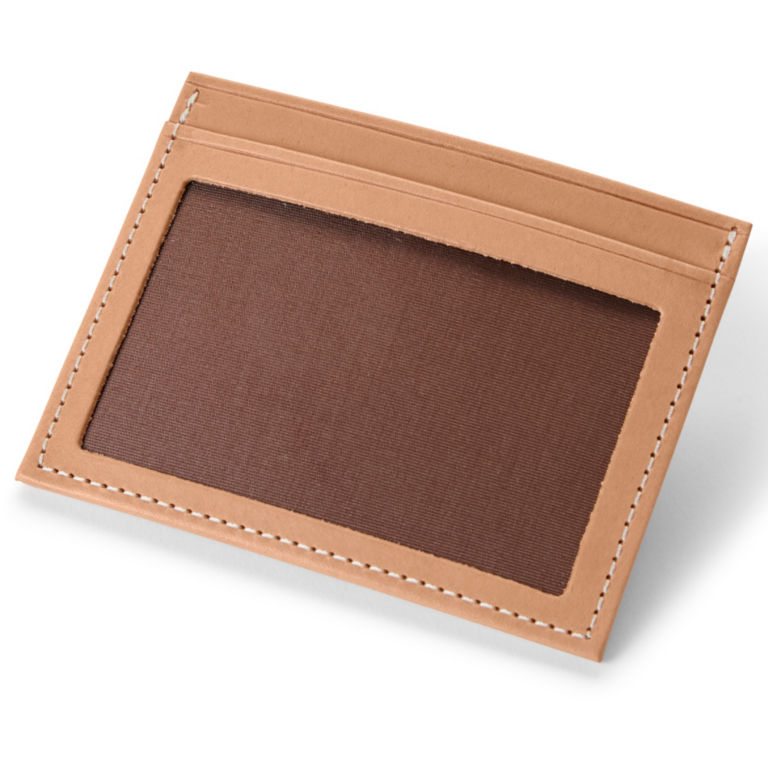 Natural Leather Card Carrier - NATURAL image number 1