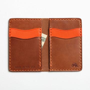 Todder Hand-Stitched Vertical Pocket Wallet - BROWN image number 2