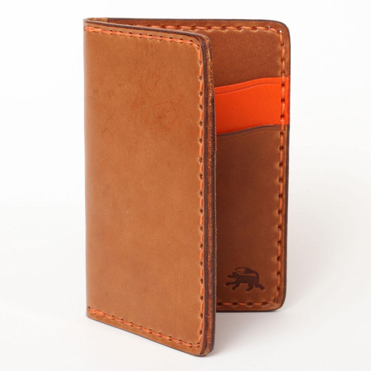 Todder Hand-Stitched Vertical Pocket Wallet - BROWNimage number 0
