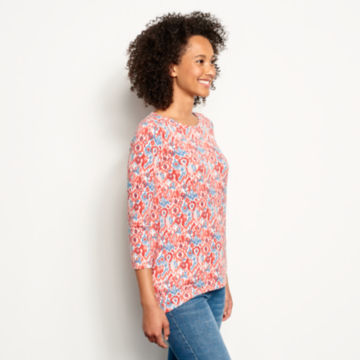 Relaxed Printed Three-Quarter-Sleeved Tee - image number 1