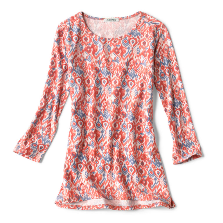 Relaxed Printed Three-Quarter-Sleeved Tee -  image number 4