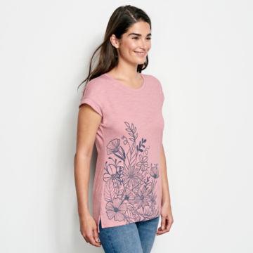 Placed Floral-Printed Dolman Tee -  image number 1