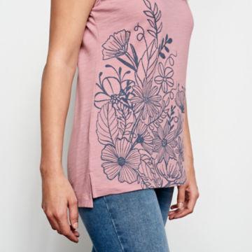 Placed Floral-Printed Dolman Tee -  image number 4