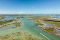 Aerial view of Bahaman waterways