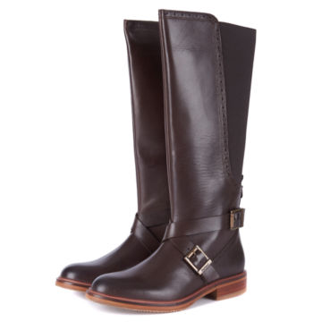 Barbour® Mary Tall Riding Boots - BROWN image number 1
