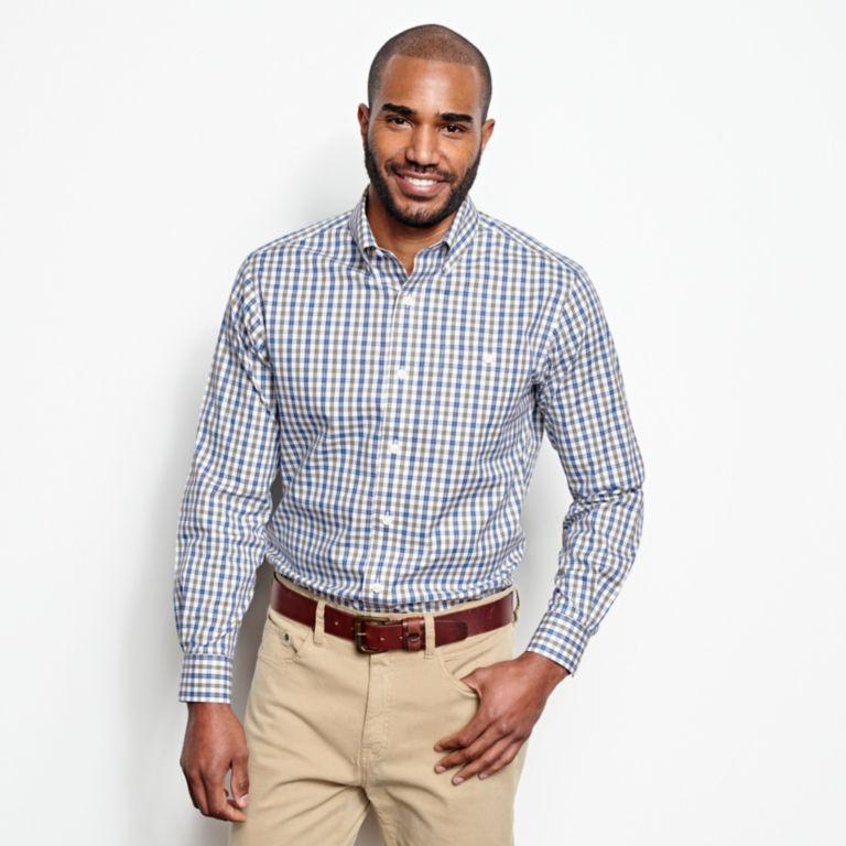 Pinpoint Wrinkle-Free Comfort Stretch Long-Sleeved Shirt - Regular -  image number 1