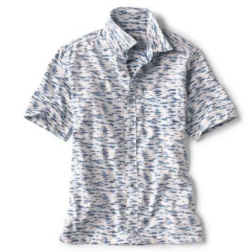 Fish Print Stretch Short-Sleeved Shirt -  image number 0