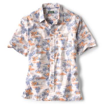 Bent Rod Print Short-Sleeved Stretch Shirt -  image number 0