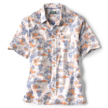 Bent Rod Print Short-Sleeved Stretch Shirt -