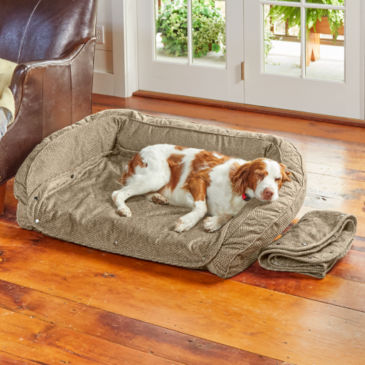 Orvis AirFoam Bolster Dog Bed with Snap-Off Pads -