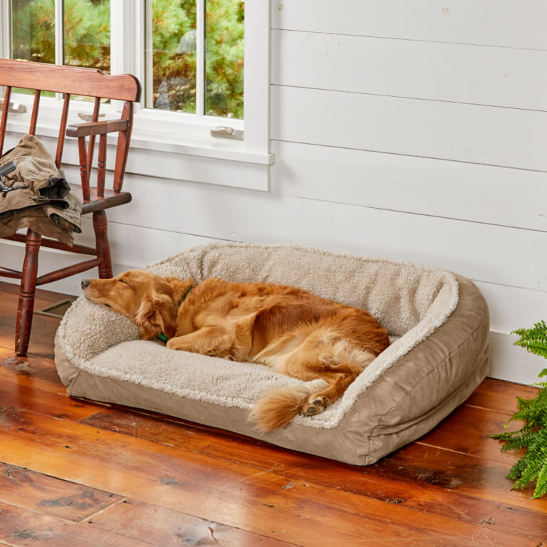 Orvis ComfortFill-Eco™ Bolster Dog Bed with Fleece -  image number 1