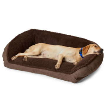 Orvis ComfortFill-Eco™ Bolster Dog Bed with Fleece -  image number 0