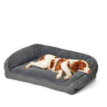 Orvis Memory Foam Bolster Dog Bed with Fleece -