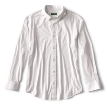 Knit Wrinkle-Free Comfort Stretch Long-Sleeved Shirt -