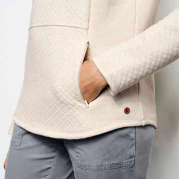 Placed Quilted Crew Sweatshirt -  image number 4