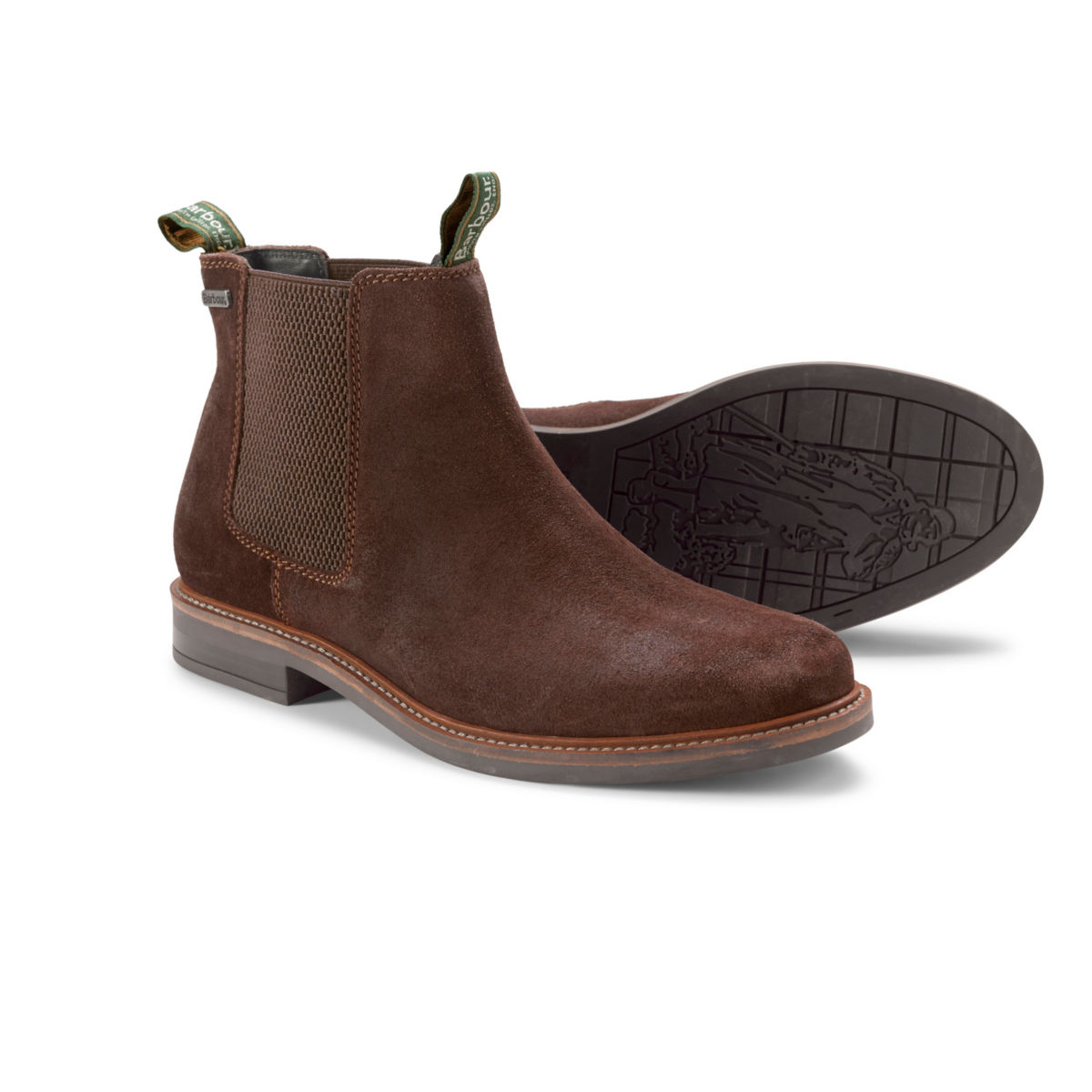Barbour® Farsley Chelsea Boots - CHOCO SUEDEimage number 0