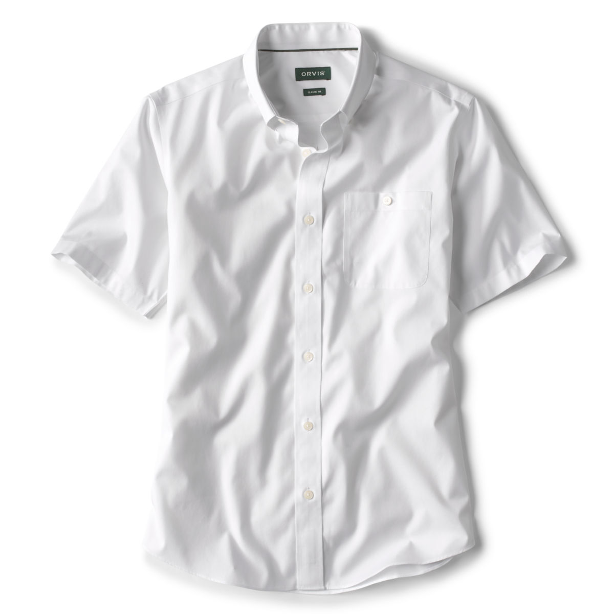 Pinpoint Wrinkle-Free Comfort Stretch Short-Sleeved Shirt - WHITEimage number 0