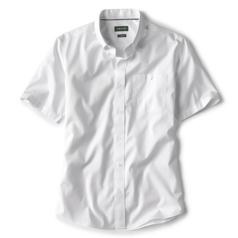 Pinpoint Wrinkle-Free Comfort Stretch Short-Sleeved Shirt - WHITE image number 0