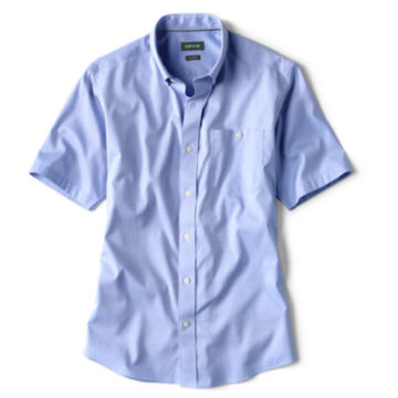 Pinpoint Wrinkle-Free Comfort Stretch Short-Sleeved Shirt -  image number 0