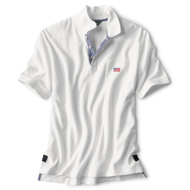 Flag Polo - WHITE image number 0