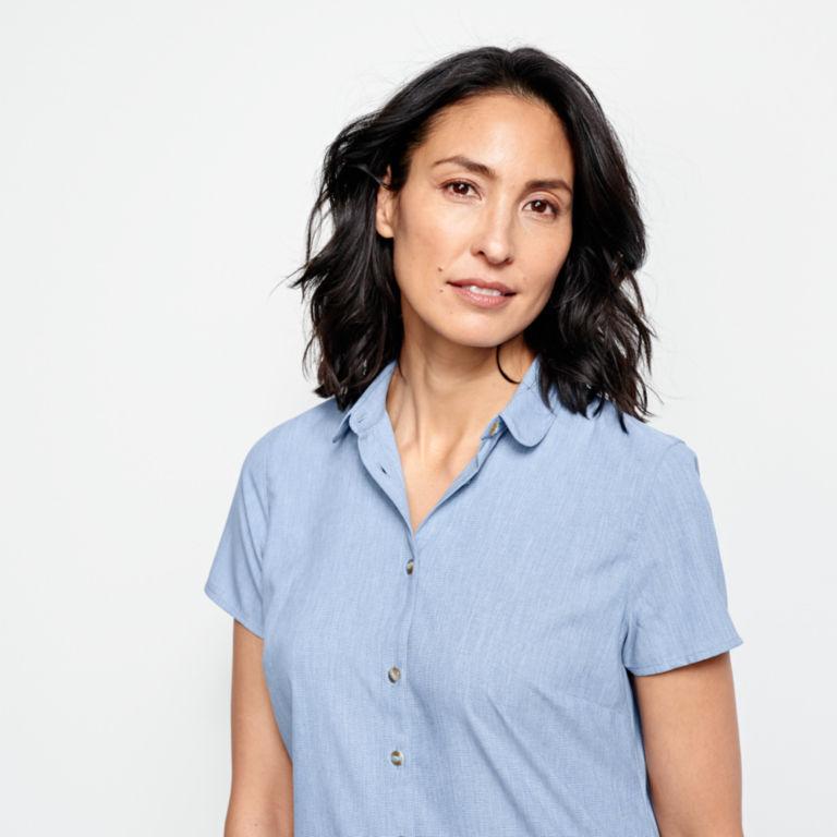 Short-Sleeved Acadia Shirt - RIVER BLUE image number 4