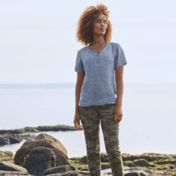Lightweight Linen Short-Sleeved Sweetwater® Popover -  image number 4