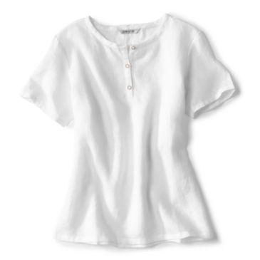 Lightweight Linen Short-Sleeved Sweetwater® Popover - WHITE