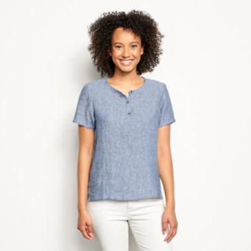 Lightweight Linen Short-Sleeved Sweetwater® Popover -